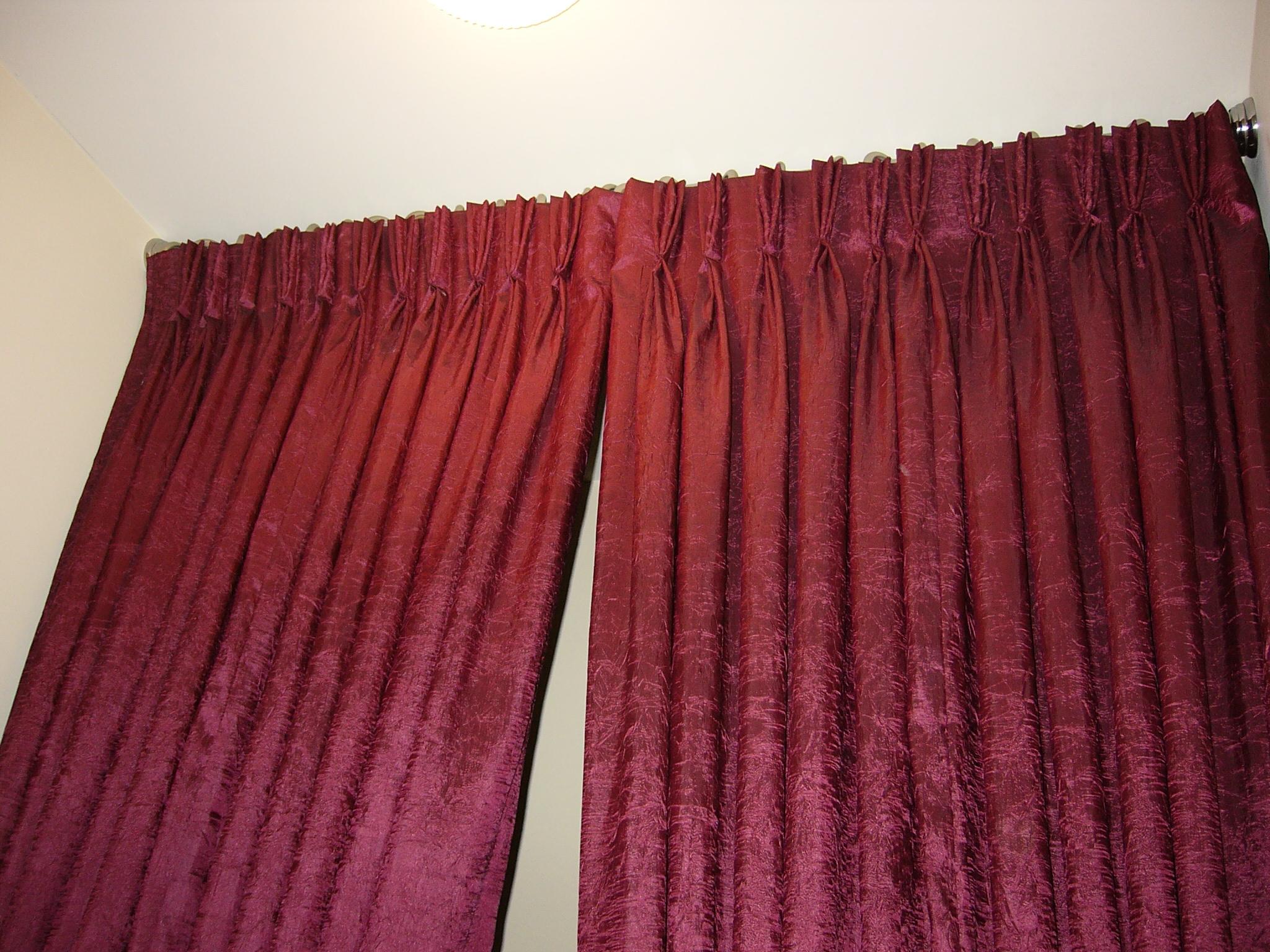 Shower Curtain Pinch Pleats